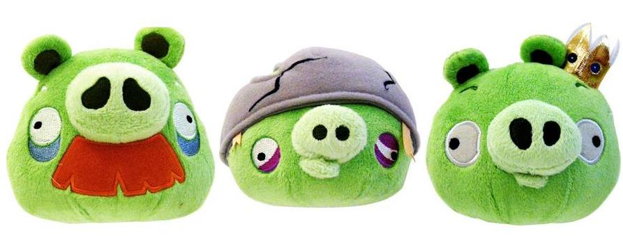 Id9 angry birds peluche cochon 12cm sonore x12 - Cochon angry bird ...