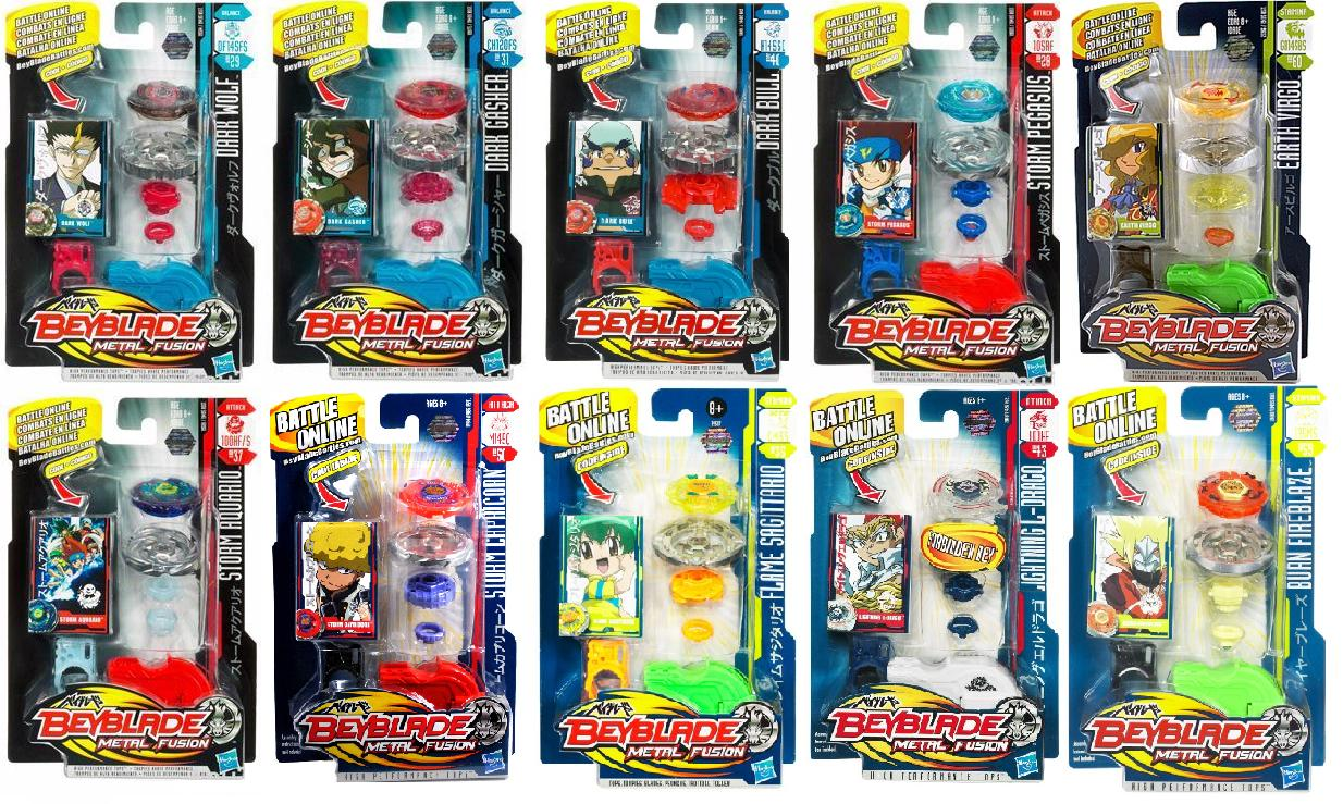 ID9 - Beyblade Metal Fusion toupie simple pack x14