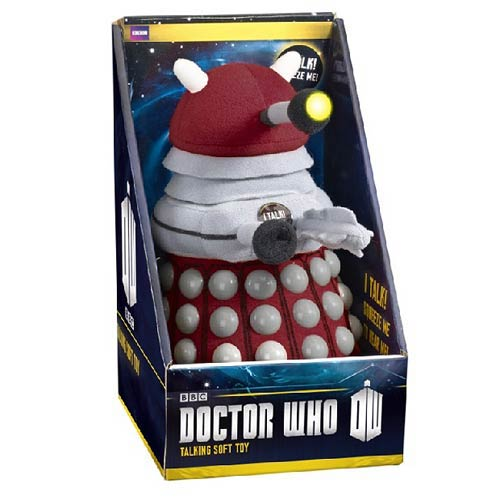 id9 doctor who peluche 22cm dalek bordeaux sonore et lumineux. Black Bedroom Furniture Sets. Home Design Ideas