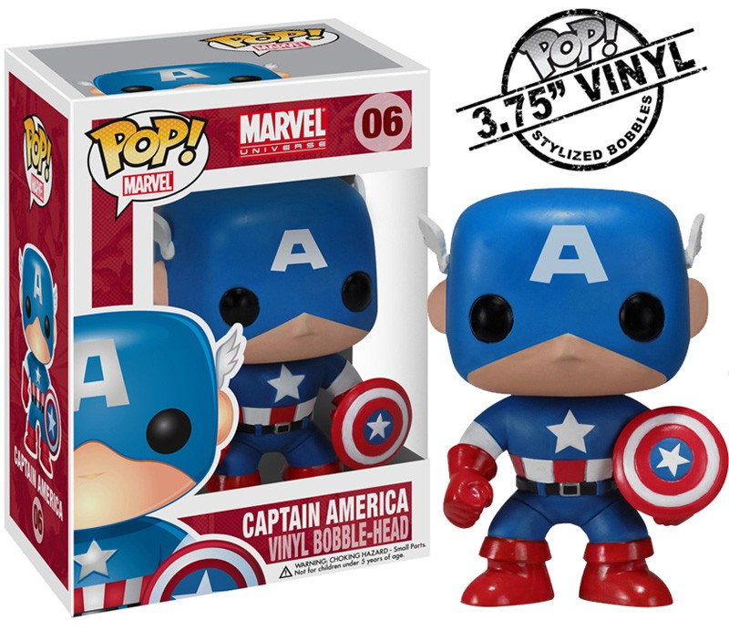 Marvel Pop Captain America figurine 10cm