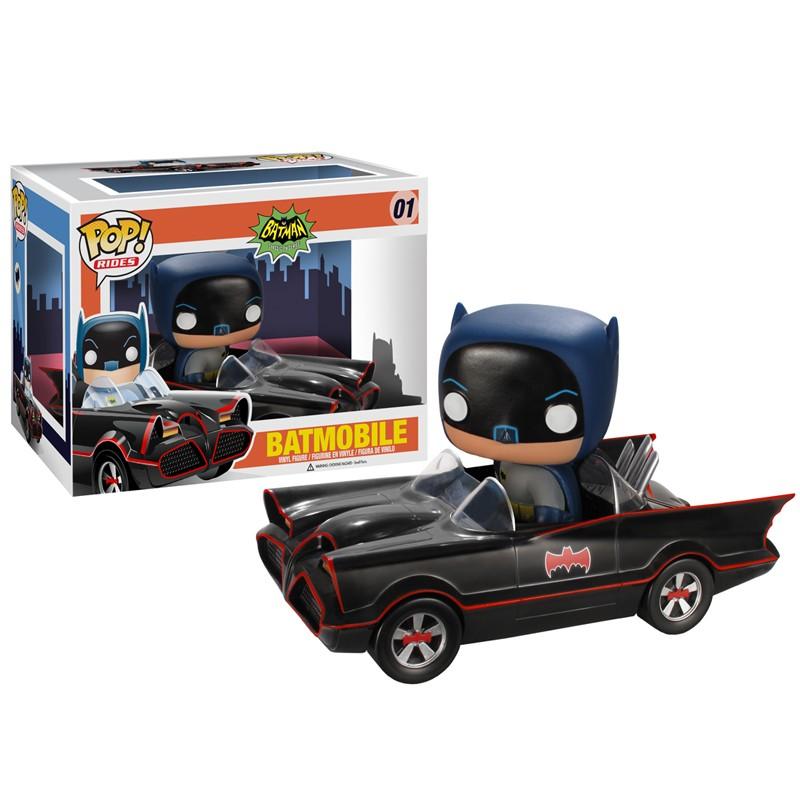 Batman 1966 Pop Rides Batman & Batmobile figurine 10cm