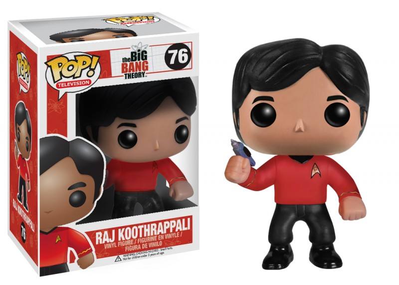 Big Bang Theory Pop Star Trek Raj 10cm