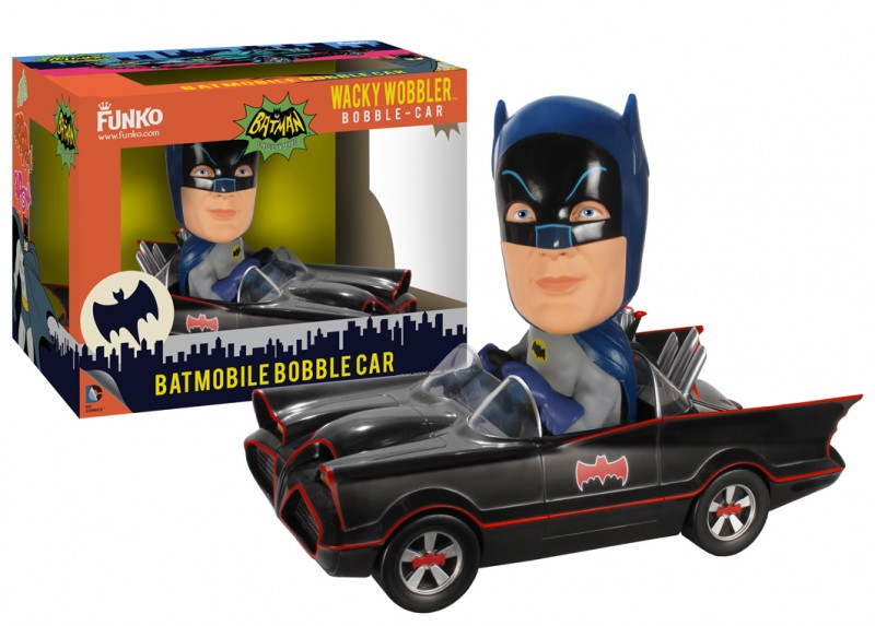 Batman 1966 Bobblehead Batman & Batmobile 18cm