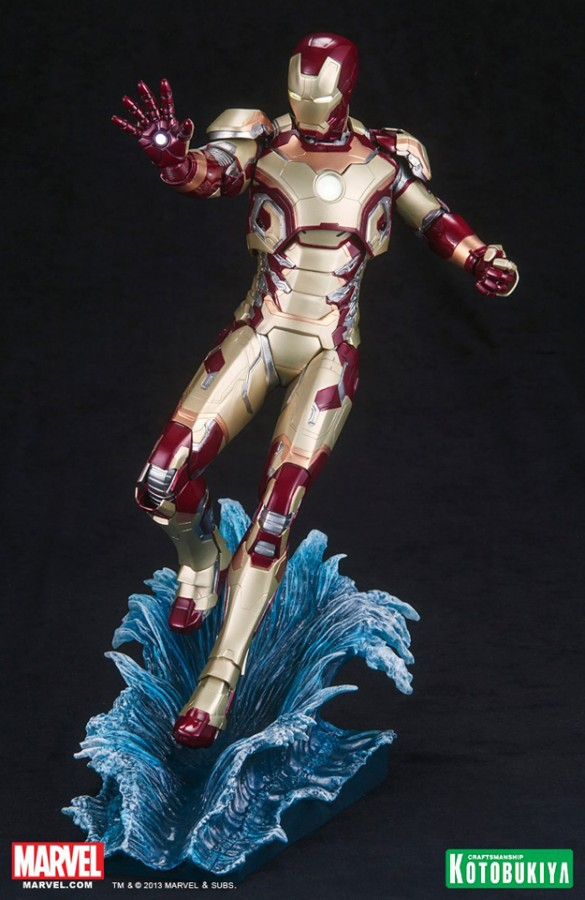 Iron Man 3 Iron Man Mark 42 Kotobukiya Statue light up 38cm   Agrandir