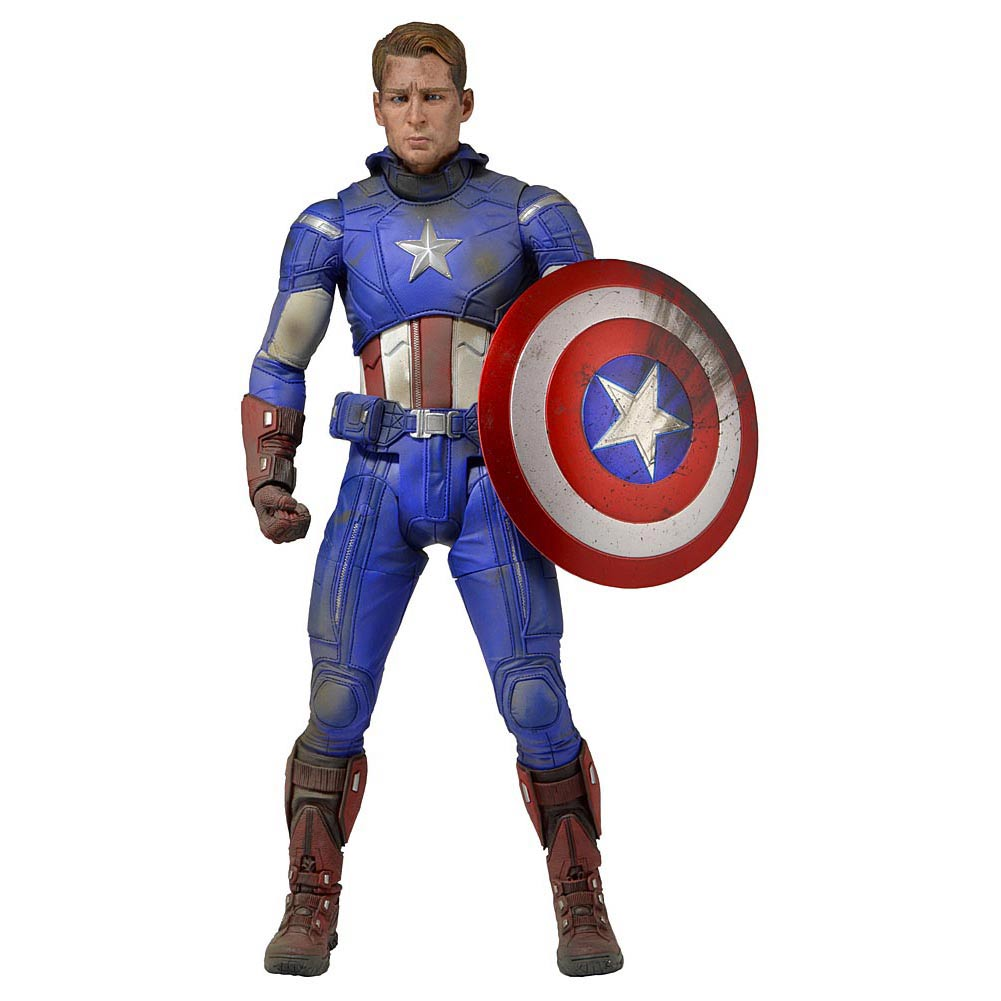 Avengers movie 1/4 Captain America Battle Damaged Scale 45cm