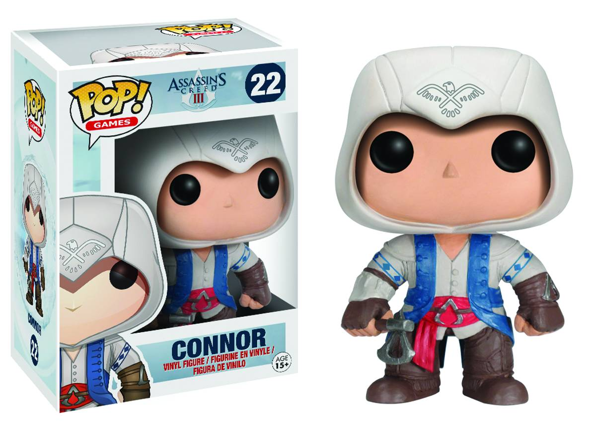 Assassins Creed Pop Connor Vinyl 10cm