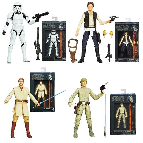 SW Black Series Wave 3 6in 15cm assortiment 4 figurines