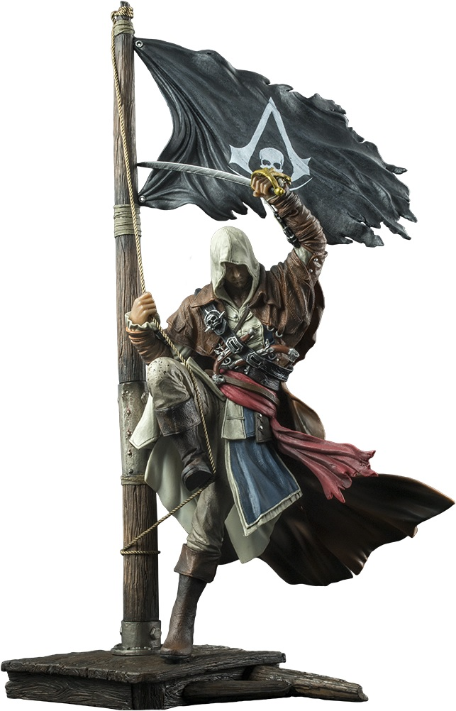 Assassins creed IV Black Flag Edward Kenway Master of the Seas Statue PVC 45cm