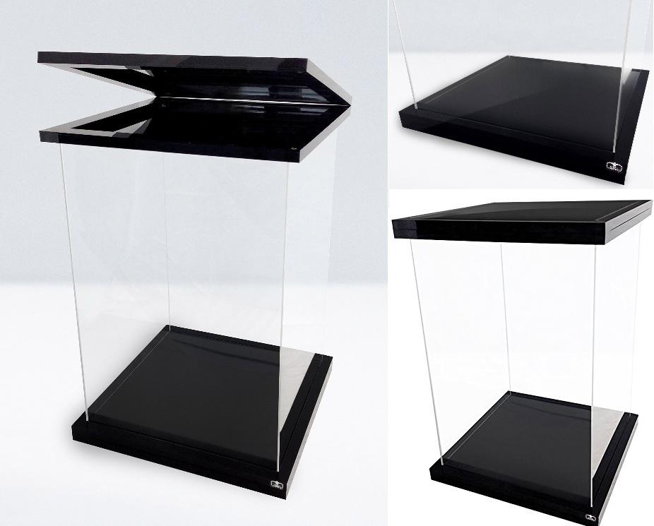 id9 ultimate guard vitrine acrylique magnetique noire pour figurine 1 6eme. Black Bedroom Furniture Sets. Home Design Ideas